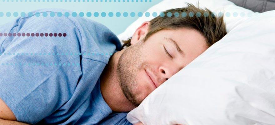 Chico durmiendo tranquilamente