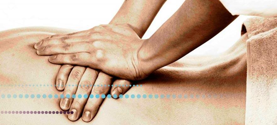 Masaje en la espalda
